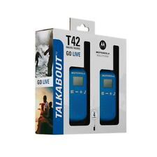 Motorola Talkabout T42 Walkie Talkie 2er-Set PMR446 Radio Unit 16Kanäle 4km Blue