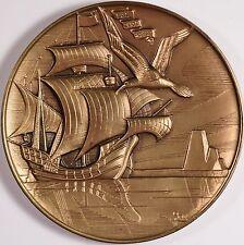 "Marcel Jovine Bronze Calendar Coin ""Tribute to Exploration"" 1985 RARE & FINE! 1"