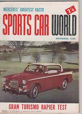 Sports Car World 1958 Nov Peerless Mercedes W196 TR3A Stutz Elva Rapier Rolls Ro