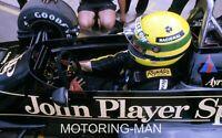 AYRTON SENNA LOTUS 97T VERY LARGE PHOTOGRAPH MONACO GRAND PRIX GP F1 1985 WHEEL