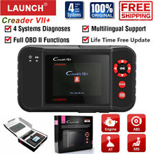 LAUNCH VII+ Car OBDII/EOBD Scanner Code Reader Engine ABS SRS AT Diagnostic Tool