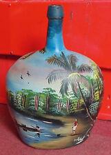 rare magnifique ANCIEN tres grande bouteille verre peint signé A. ILLAT legras