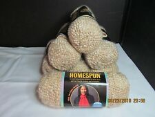 New Lion Brand Yarn,  Homespun Textured Yarn, Rococo 311, Lot of 7