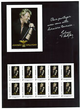 TIMBRES COLLECTOR DE JOHNNY HALLYDAY + VIGNETTE     NEUFS