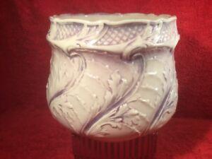 Antique Majolica Jugenstill Art Nouveau Cache Pot Planter c.1890    a
