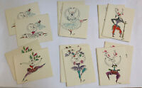 Unused In Box 12 Holiday Notes By ROSALIND WELCHER Of Panda Prints Ballet-Doux
