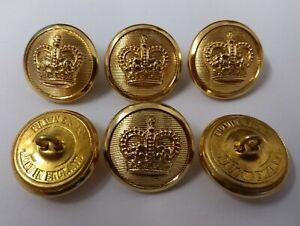 Británico Genuino Militar Edición Vestido Botones Sovereign Corona Insignia