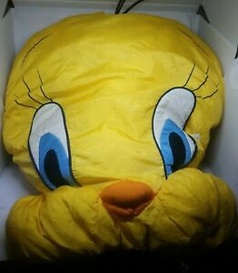 Vintage Tweety Bird Head Plush Face Large Pillow Looney Tunes Play-by-Play 1994