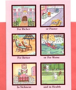 Happy Valentine's Day Mouse Mice Sweet Vows Theme Greeting Card