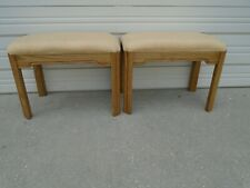 Pair Vanity Stools Thomasville 2 Bench Hollywood Regency Console Hallway French