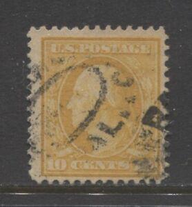 1911 United States 10 cents  George Washington used, Scott 381