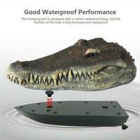 Racing Boat Crocodile Head RC Spoof Flytec Toy V002 Control 2.4G Remote Ele D2O9