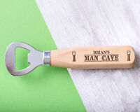 Personalised Engraved Wooden Bottle Opener Any Name Birthday Gift