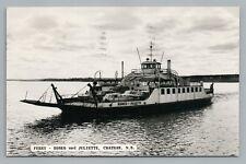 Romeo & Juliette Ferry CHATHAM New Brunswick RPPC Vintage Boat Photo 1964
