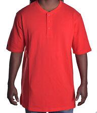 Sean John Men's Henley Tailored Fit Red Tee Shirt Size XL