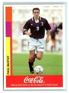 Merlin Coca Cola Football Card Paul McStay Scotland