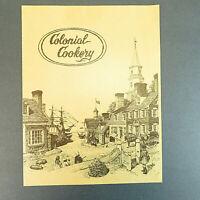 "Vintage Colonial Cookery 12"" Restaurant Menu"