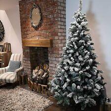 Kaemingk Snowy Imperial Hinged Pine Christmas Tree with Snow  210CM