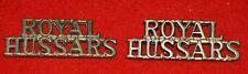 British Army. Royal Hussars Genuine Officer's Shoulder Titles