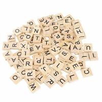 Hölzerne Scrabble Individuelle Fliesen Buchstaben Zahlen Spiel für Alphabet M6C2