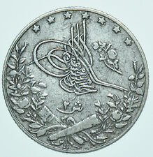 EGYPT MUAMMAD V, 2 QIRSH, AH1327//2 (1910) HEATON MINT SILVER COIN aEF