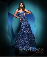 NEW With Tags Tony Bowls Paris  TB111732 Prom Pageant Gown Dress Size 2 $450