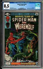 Marvel Team-up #93 CGC 8.5 White Pages! Spider-man! Werewolf by Night!