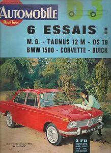 L'AUTOMOBILE 201 1963 Les BRM 1949 1963 CHEVROLET CORVETTE STING RAY BMW 1500