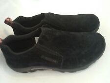 MERRELL Jungle Moc Shoes Black Suede Leather Loafers Sz Youth 5.5 /Women's 7.5