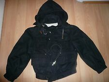 Dsquared2 Black Cotton Hooded Jacket,Made In Italy uk 8