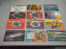Lotto 12 schede telefoniche internazionali come da foto, tutte diverse