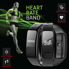 Heart Rate/Blood Oxygen Smart Bracelet Wristband Watch Activity Fitness Tracker