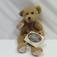 Ganz Cottage Collectibles Plush Bean Bag Bear Small Brown Nwt Brad 8in Long