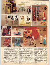 1977 PAPER AD Barbie Doll Townhouse Sunsailer Quick Curl Beauty Bath Bicycle ++