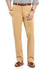 Cremieux Mens New Flat Front Twill Chino Pants 38 38w 38x30 L Large Khaki Brown