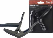 STAGG SCPX-CU Curved trigger capo for acoustic/electric GUITAR BLACK