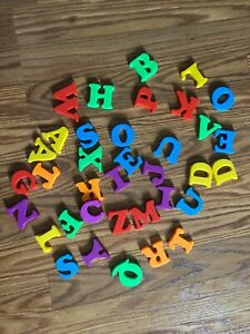 1980's Group OF Vintage Magnetic Alphabet Letters