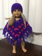 Doll clothes /HANDMADE Poncho Set /Fits American Girl 18 inch Doll