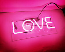 "14""x5"" LOVE Neon Sign Light Beer Bar Pub Wall Poster Real Glass Tube Party Decor"