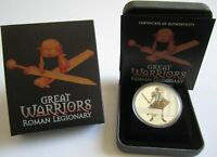 Tuvalu 1 Dollar 2010 Great Warriors Roman Legionary 1 Oz Silber