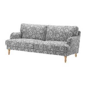 New Ikea STOCKSUND 3 seat sofa COVER SET in Hovsten Grey / White