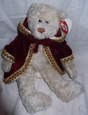 TY Attic Treasures Christmas Plush Teddy Bear GEM Let it Snow w/tags velvet Coat