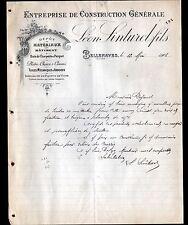 """BELLENAVES (03) Ets de CONSTRUCTION / BOIS & TUILES """"Léon SINTUREL Fils"""" en 1908"""