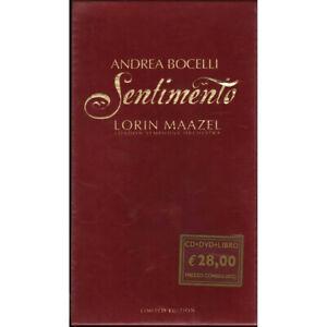 Andrea Bocelli / Maazel Lorin CD DVD LIBRO Sentimento Limited / Sugar Sigillato