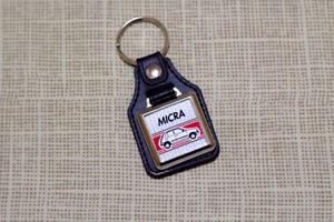 Nissan Micra K11 Keyring - Leatherette & Chrome Keyfob