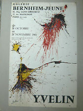 YVELIN Affiche originale Composition abstraite 1965 Galerie Bernheim-Jeune