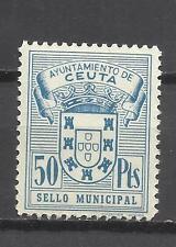5636--MNH SELLO LOCAL FISCAL ANTIGUO ETAPA FRANCO AYUNTAMIENTO DE CEUTA NUEVO **