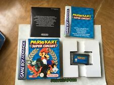 Mariokart super circuit game Nintendo Gameboy Advance Gba Boxed complete
