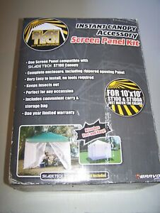 Quik Shade Shade Tech Screen Kit for ST100 & ST100A Canopies White NEVER USED