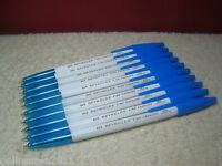 10 Pen Reynolds 045 Fine Carbure Ballpoint Pen Blue Lot of 10 Smooth Handwriting